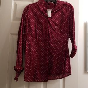 The Limited Tops - Polka dot button down
